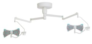 Хирургический потолочный двухблочный светильник Аксима- СД-160/160